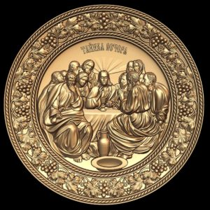 3d STL Model for CNC Last Supper Icon (12)