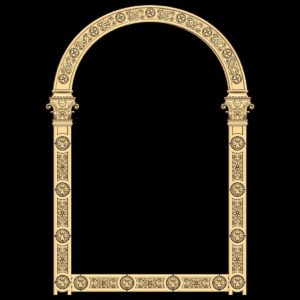 3d STL Model for CNC Religion Mirror Frame (13)