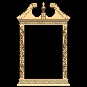 3d STL Model for CNC Religion Mirror Frame (15)