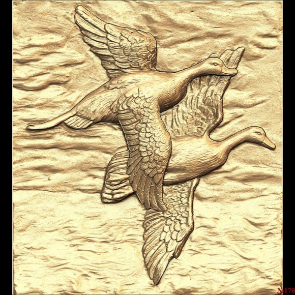 3d STL Model for CNC Panno Ducks (170)