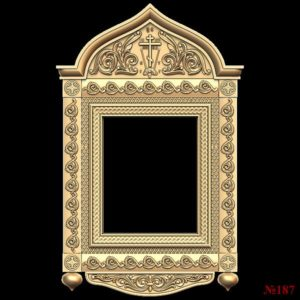 3d STL Model for CNC Mirror Frame (187)