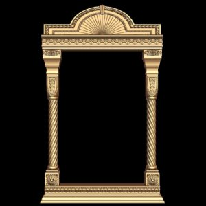 3d STL Model for CNC Religion Mirror Frame (19)