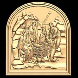 3d STL Model for CNC Religion Icon (20)
