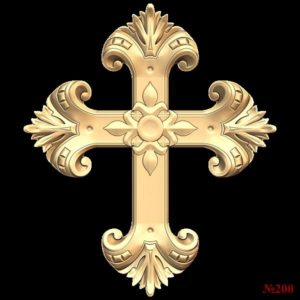 3d STL Model for CNC Religion Cross (200)