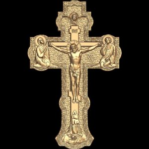 3d STL Model for CNC Religion Cross (201)