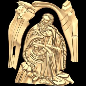 3d STL Model for CNC Religion Icon (22)