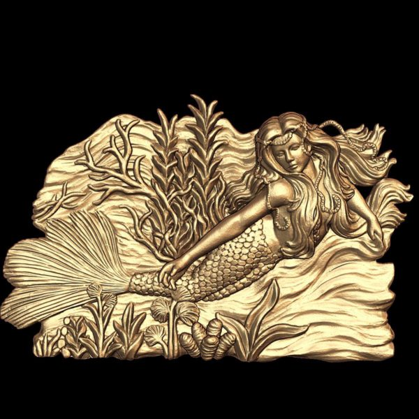 3d STL Model for CNC Panno Mermaid (233)