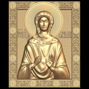 3d STL Model for CNC Religion Icon (28)
