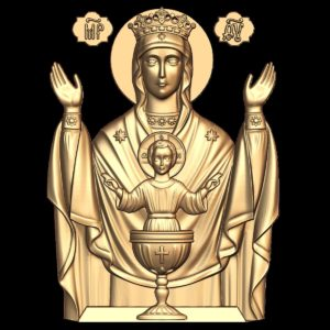 3d STL Model for CNC Religion Icon (8)