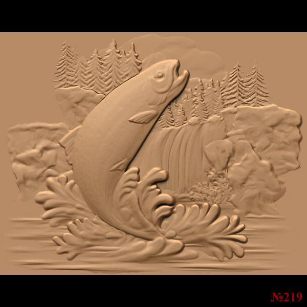 14 3d Stl Models Quot Fish Collection Quot For Cnc 3d Stl