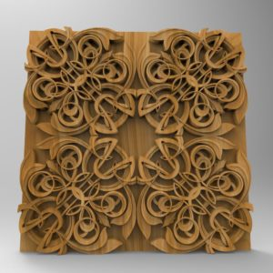 3d STL Model for CNC Wall Panel (663)