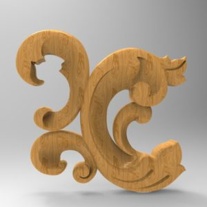 3d STL Model for CNC Decor Element (679)