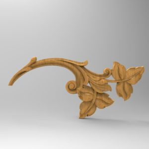 3d STL Model for CNC Decor Element (689)