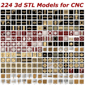 STL collection for CNC 224