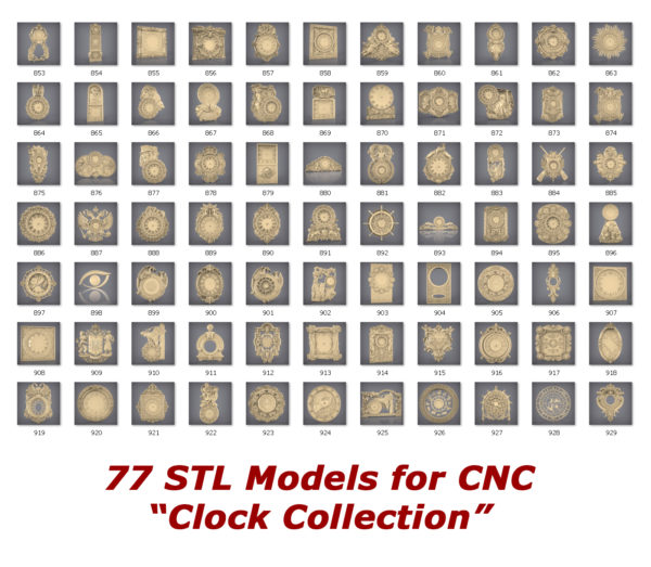 Clock collection for cnc routers 3d printers
