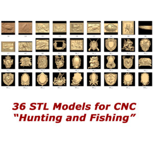 hunting and fishing collection for cnc