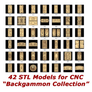 Backgammon collection for cnc routers