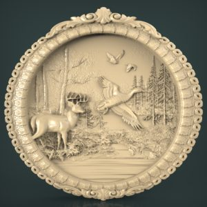 3d STL Model for CNC and 3d Printer Bas-Relief 1005