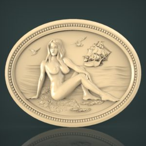 3d STL Model for CNC and 3d Printer Bas-Relief 1009