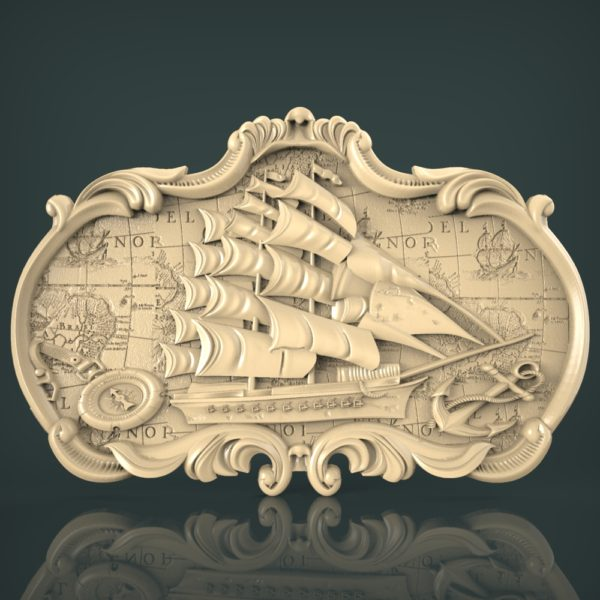 3d STL Model for CNC and 3d Printer Bas-Relief 1021