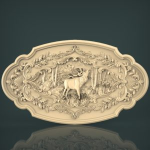 3d STL Model for CNC and 3d Printer Bas-Relief 1022