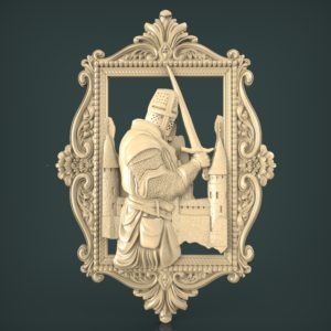 3d STL Model for CNC and 3d Printer Bas-Relief 1025