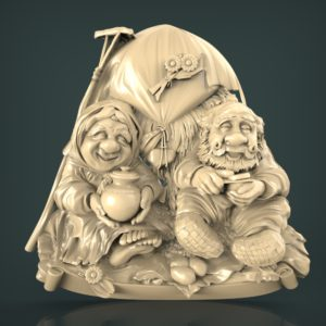 3d STL Model for CNC and 3d Printer Bas-Relief 1029