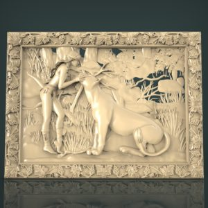 3d STL Model for CNC and 3d Printer Bas-Relief 1034
