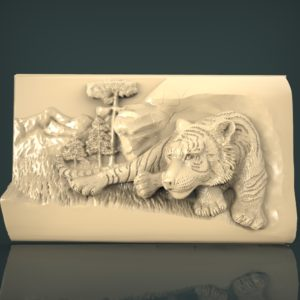 3d STL Model for CNC and 3d Printer Bas-Relief 1035