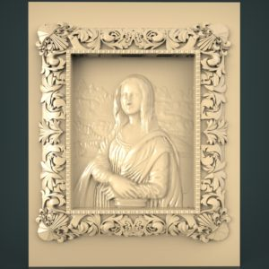 3d STL Model for CNC and 3d Printer Bas-Relief 1036