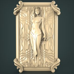 3d STL Model for CNC and 3d Printer Bas-Relief 1038