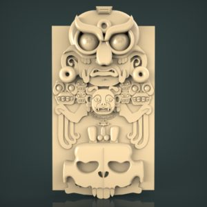 3d STL Model for CNC and 3d Printer Bas-Relief 1039
