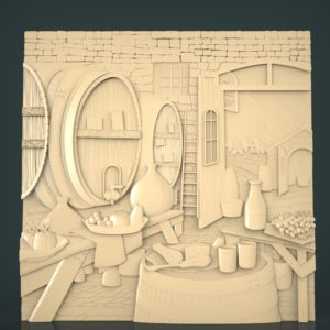 3d STL Model for CNC and 3d Printer Bas-Relief 1043