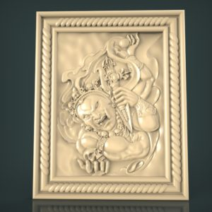 3d STL Model for CNC and 3d Printer Bas-Relief 1047