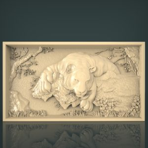 3d STL Model for CNC and 3d Printer Bas-Relief 1048