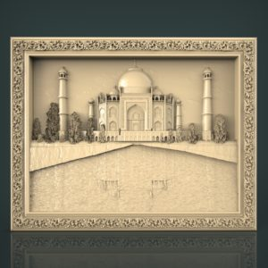 3d STL Model for CNC and 3d Printer Bas-Relief 1050