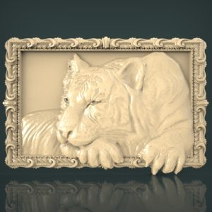 3d STL Model for CNC and 3d Printer Bas-Relief 1051