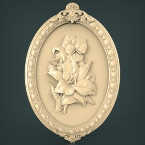 3d STL Model for CNC and 3d Printer Bas-Relief 1052