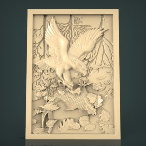 3d STL Model for CNC and 3d Printer Bas-Relief 1055