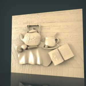 3d STL Model for CNC and 3d Printer Bas-Relief 1058