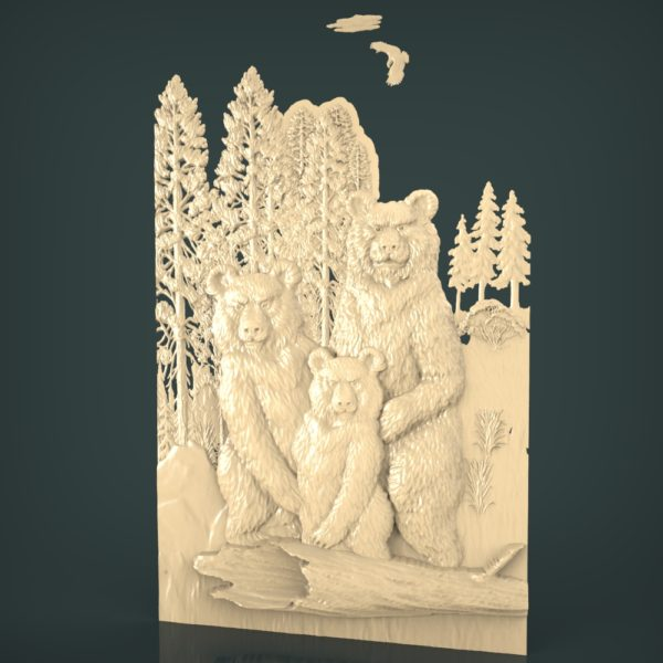 3d STL Model for CNC and 3d Printer Bas-Relief 1059