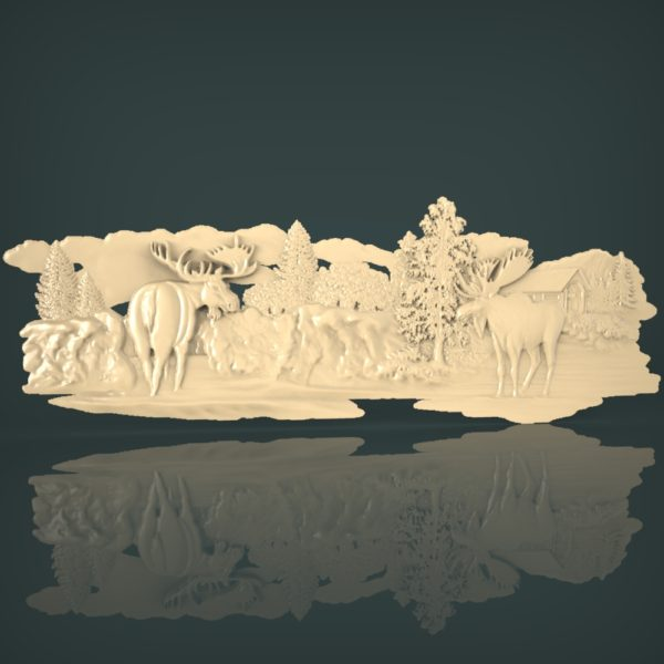 3d STL Model for CNC and 3d Printer Bas-Relief 1061