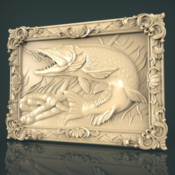 3d STL Model for CNC and 3d Printer Bas-Relief 1063