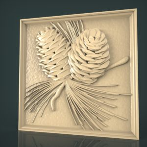 3d STL Model for CNC and 3d Printer Bas-Relief 1064