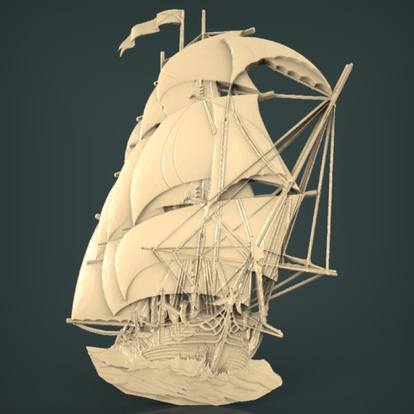 3d STL Model for CNC and 3d Printer Bas-Relief 1065