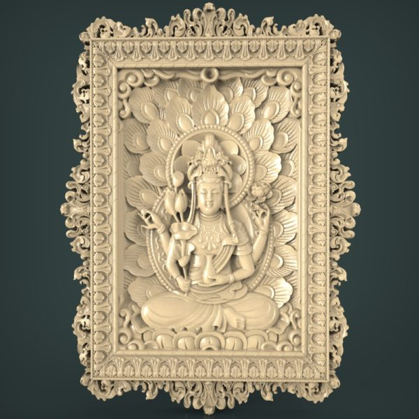 3d STL Model for CNC and 3d Printer Bas-Relief 1066