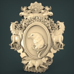 3d STL Model for CNC and 3d Printer Bas-Relief 1067