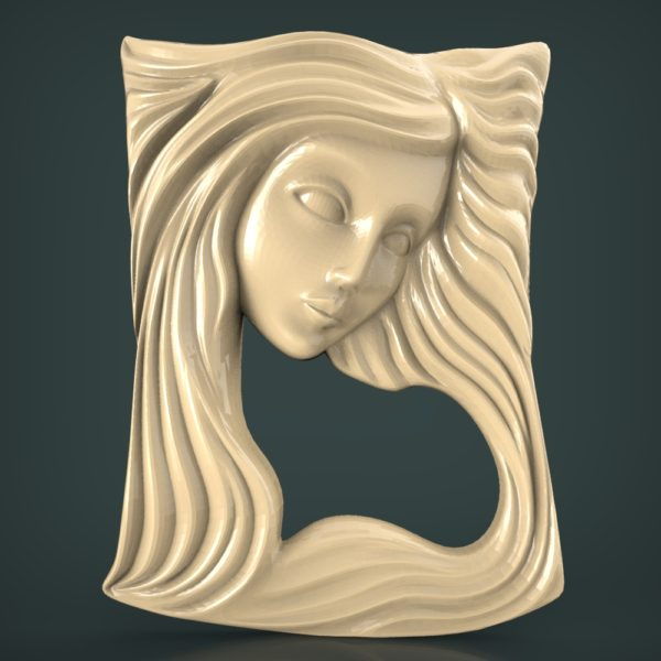 3d STL Model for CNC and 3d Printer Bas-Relief 1068