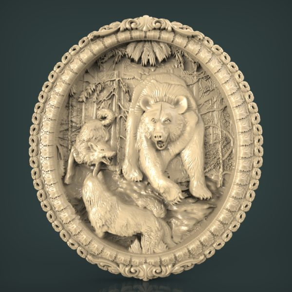 3d STL Model for CNC and 3d Printer Bas-Relief 1069