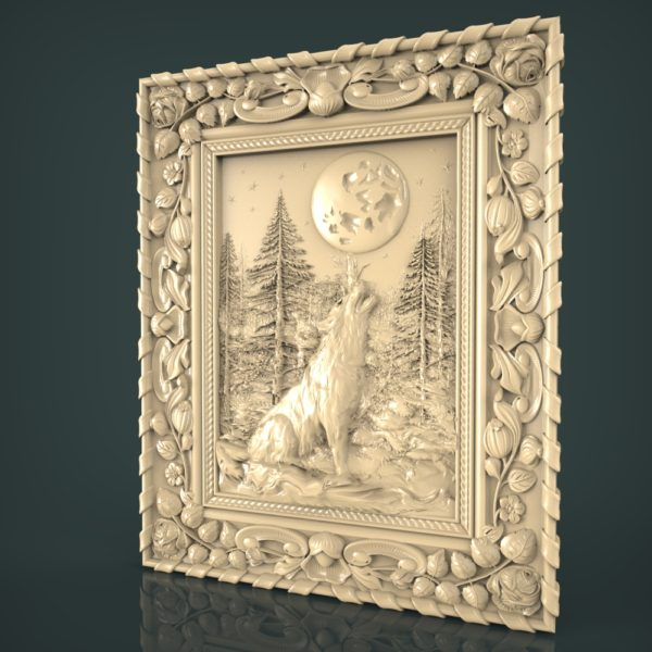 3d STL Model for CNC and 3d Printer Bas-Relief 1070